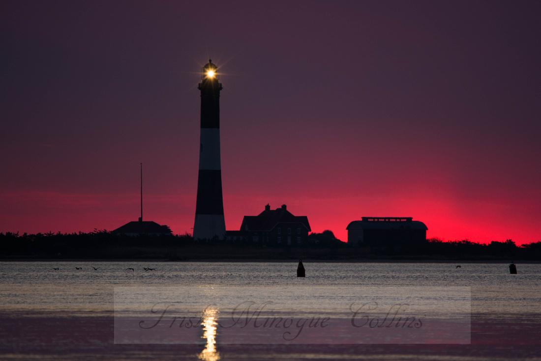 Dawn Glow at Fire island Light
